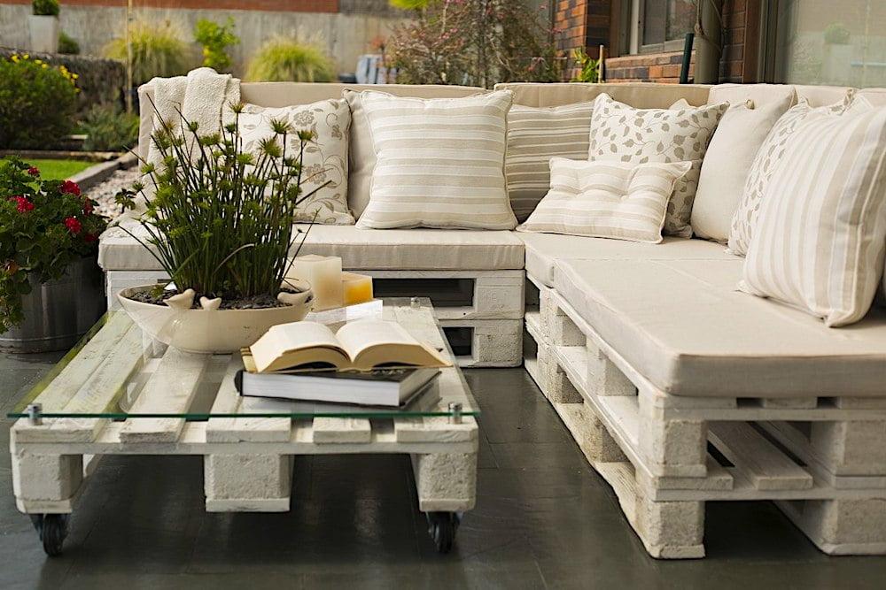 muebles con palets para el jardin