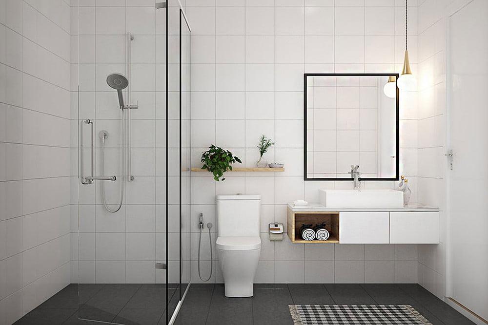 baños pequeños con estilo minimalista