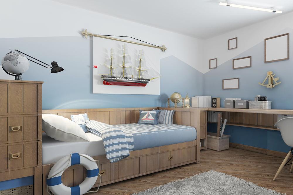 decoracion dormitorio nautico