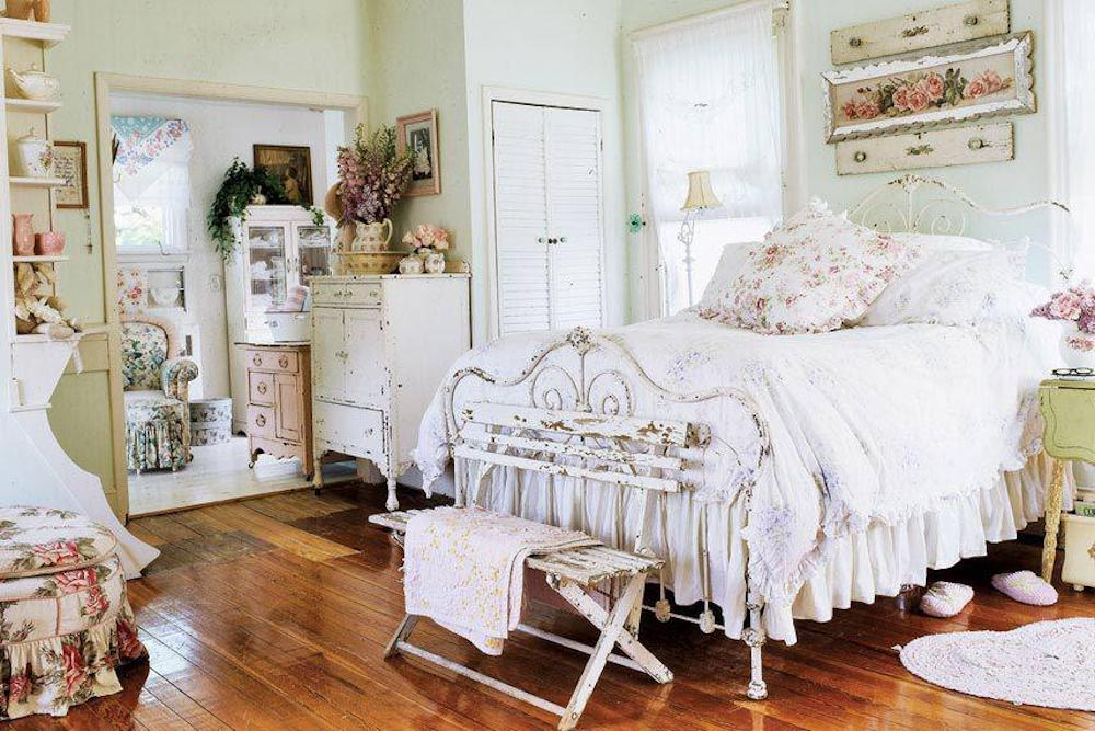 decoracion dormitorios shabby chic