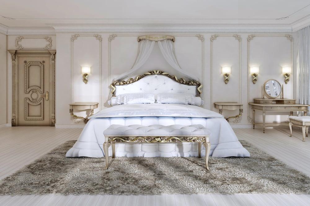 decoracion paredes dormitorio clasico