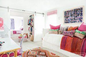 dormitorio boho chic blanco