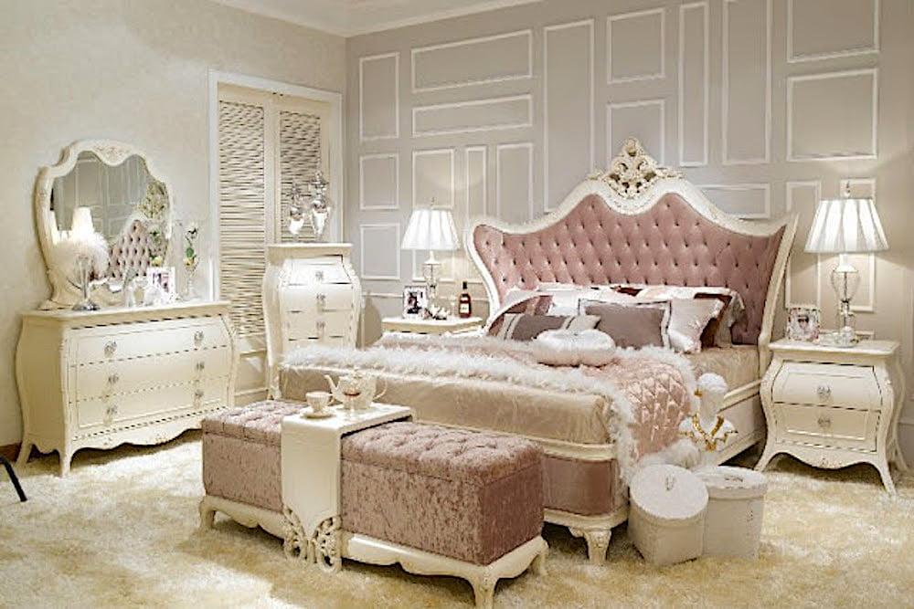 dormitorio de matrimonio blanco romantico