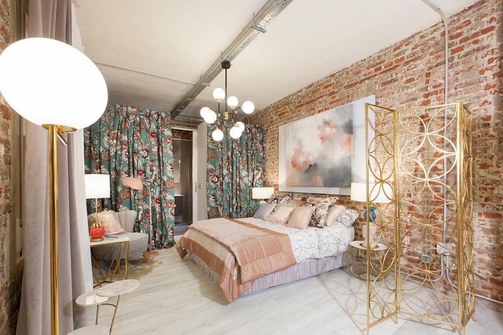 dormitorio eclectico con estilo