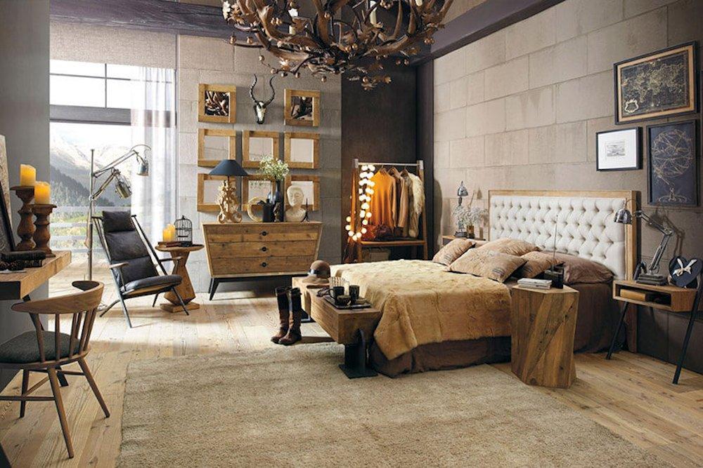 dormitorio estilo ecléctico