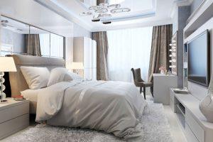 dormitorios matrimonio modernos blancos