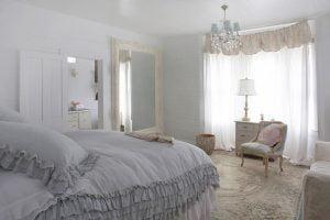 estilo shabby chic en dormitorios