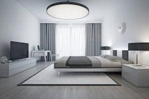 iluminacion dormitorio minimalista