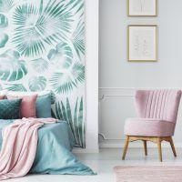 Papel pintado en el dormitorio