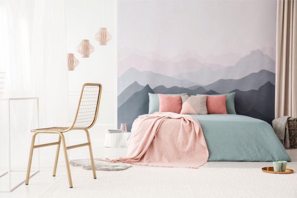 ultimas tendencias de papel pintado en el dormitorio